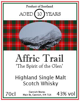 Affric Trail 10 year old highland single malt whisky