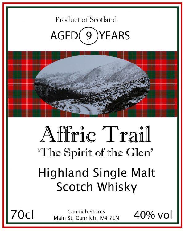 Affric Trail single Highland Malt Whisky