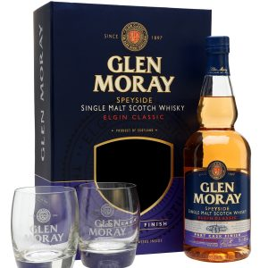 Glen Moray port cask gift set
