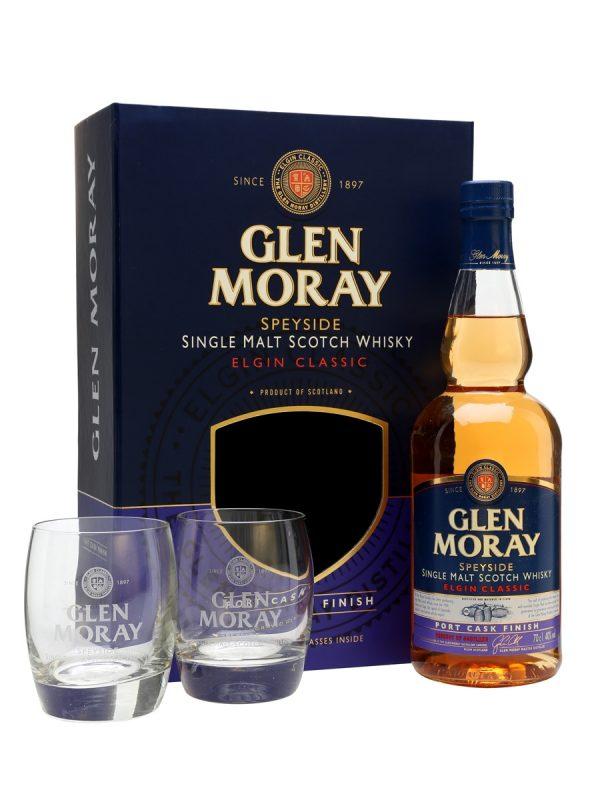 Glen Moray port cask gift set