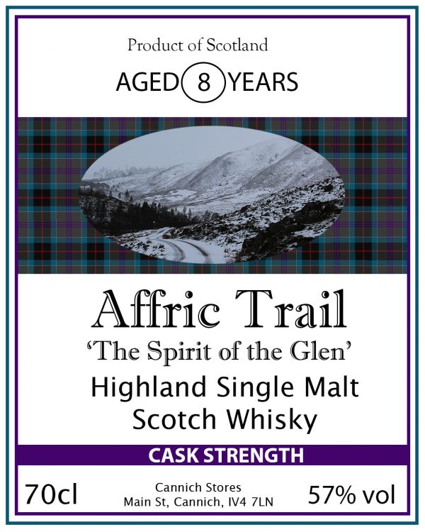 Affric Trail Cask Strength single Highland Malt Whis