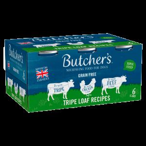 Butchers Tripe Loaf Recipes Dog Food Tins 6 x 400g
