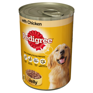 Pedigree Dog Tin with Chicken in Jelly 385g