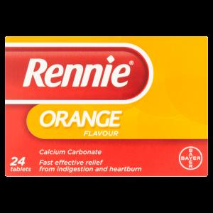 Rennie Orange Flavour 24 Tablets