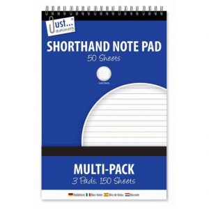 Shorthand Note Pad (Multi-Pack 3 Pads 150 Sheets)