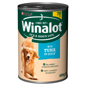 Winalot Classics Tinned Dog Food Tuna in Jelly 400g