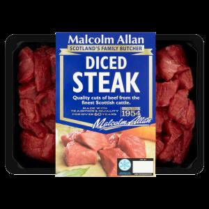 Cannich Stores : Malcolm Allan Diced Steak 400g