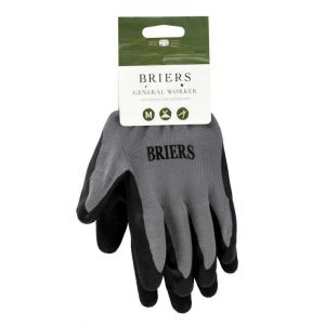 Briers Black General Worker Gardening Glove (Medium)