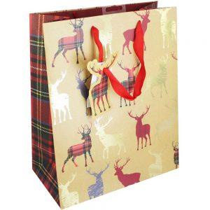 Tartan Stag Gift Bag